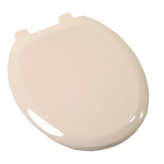 Comfort Seats Round Bone Plastic Easy Close Toilet Seat