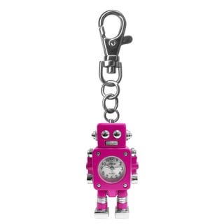 Dakota Moxie Kids Pink Robot Charm Clock with Bonus Slap Watch
