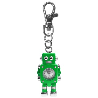 Dakota Moxie Kids' Green Robot Charm Clock with Bonus Slap Watch