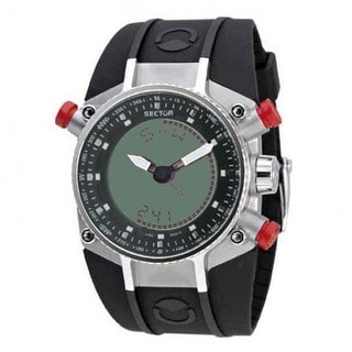 Sector Men's Black Polyurethane Analog Digital Watch