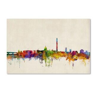 Michael Tompsett 'Washington Watercolor Skyline' Canvas Art