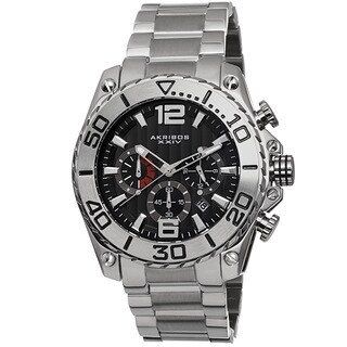 Akribos XXIV Men's Date Chronograph Stainless Steel Bracelet Watch