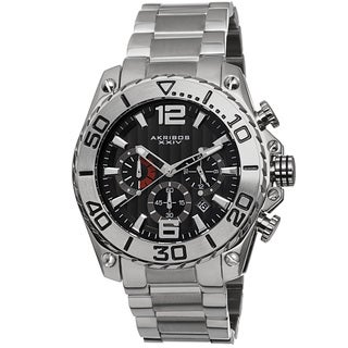 Akribos XXIV Men's Date Chronograph Stainless Steel Bracelet Watch