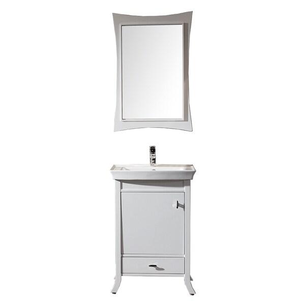 virtu usa summer grove 24 inch single sink white vanity with ceramic