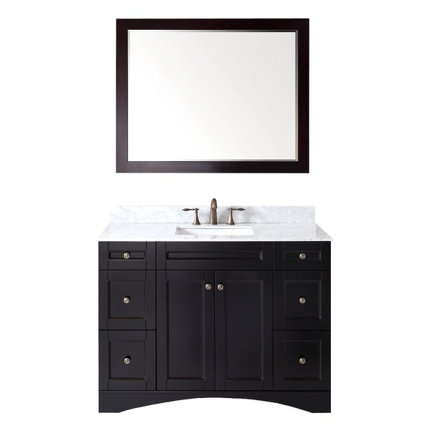 Virtu Usa Elise Eight Inch Single Sink Espresso Vanity With