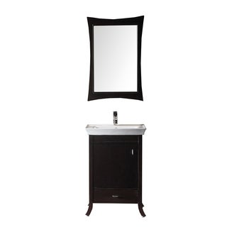 Virtu USA Summer Grove 24-inch Single Sink Espresso Vanity with Ceramic Countertop