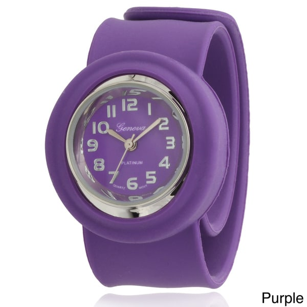 Geneva Platinum Kids' Silicone Slap Watch