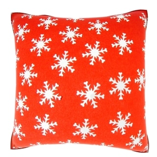 18-inch Christmas Snowflake Velour Throw Pillow
