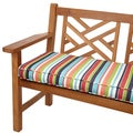 Multicolor Stripe Outdoor 48-inch Bench Cushion with Sunbrella Fabric