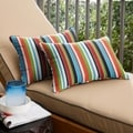 Multicolor Stripe Corded 13 x 20 inch Indoor/ Outdoor Pillows with Sunbrella Fabric (Set of 2)