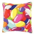18-inch Jelly Bean Bunch Velour Throw Pillow