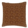Abstract Brown Textile 18-inch Velour Throw Pillow