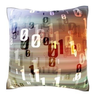 Computer Information Highway 18-inch Velour Throw Pillow