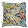 Abstract Floral-like Pattern 18-inch Velour Throw Pillow