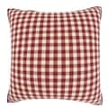 Red/ Cream Checkered 18-inch Velour Throw Pillow