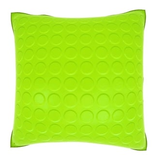 Abstract Lime Green Polka Dot 18-inch Velour Throw Pillow