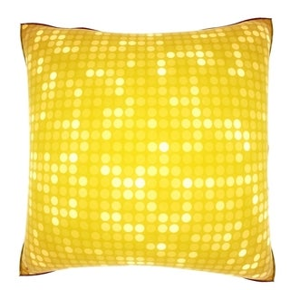 Flashy Yellow Dots 18-inch Velour Throw Pillow