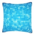Flashy Blue Dots 18-inch Velour Throw Pillow