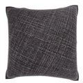 Dark Grey Weaved Texture 18-inch Velour Throw Pillow