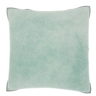 Sea Green 18-inch Velour Throw Pillow