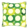 Green Bubble Rings 18-inch Velour Throw Pillow