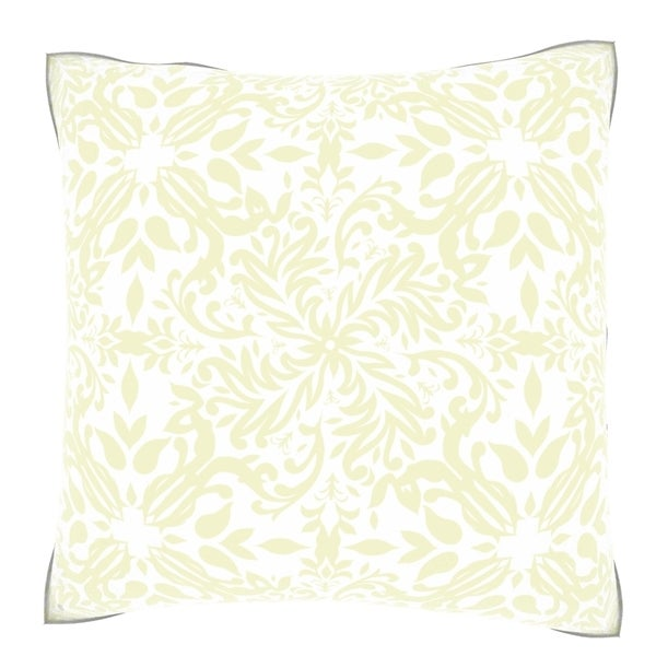 Classic Champagne Floral 18-inch Velour Throw Pillow
