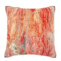 Rustic Faded Red Paint 18-inch Velour Throw Pillow