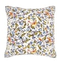 Colorful Floral 18-inch Velour Throw Pillow