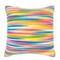 Bright Multicolored Stripes 18-inch Velour Throw Pillow