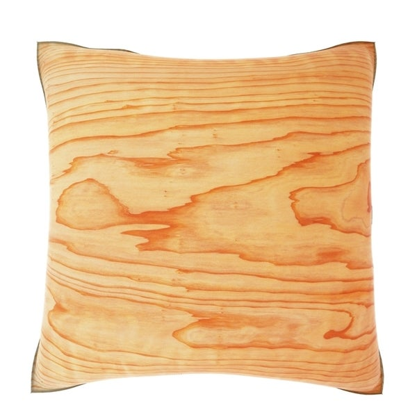 Cedar Wood Grain 18-inch Velour Throw Pillow