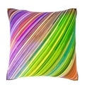 Multicolor Neon Lights 18-inch Velour Throw Pillow