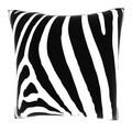 Abstract Zebra Stripe 18-inch Velour Throw Pillow
