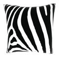 Abstract Zebra Stripe 18-inch Velour Throw Pillow