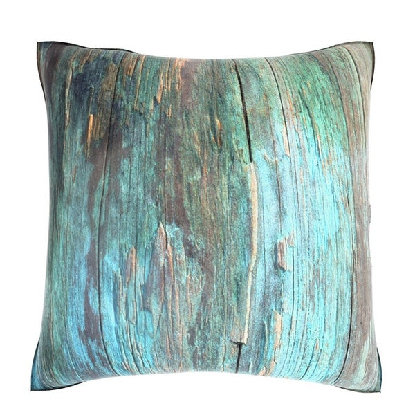Velour Throw Pillows : Rustic Blue Wood 18-inch Velour Throw Pillow - 16073688 - Overstock.com Shopping - Great Deals ...