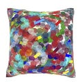 Abstract Bits and Pieces 18-inch Velour Throw Pillow