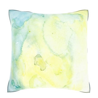 Abstract Yellow Watercolor Painting 18-inch Velour Throw Pillow