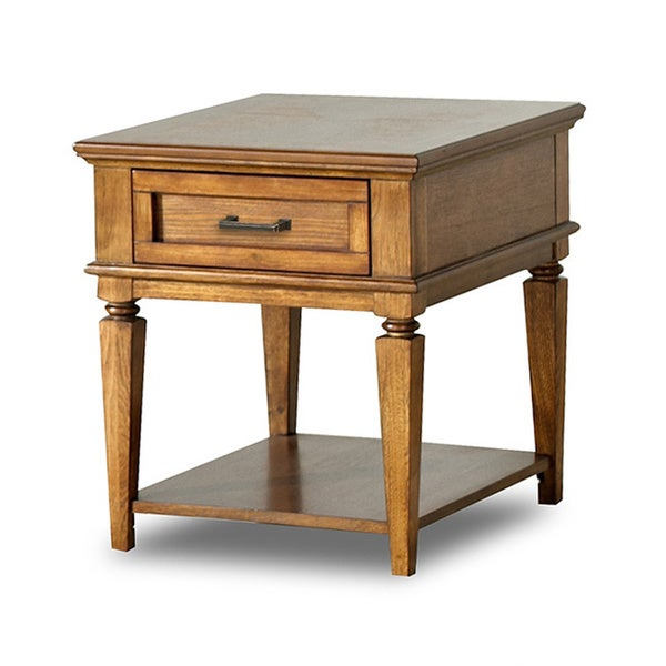 conrad light oak finished end table overstock shopping great deals on purelife coffee sofa. Black Bedroom Furniture Sets. Home Design Ideas