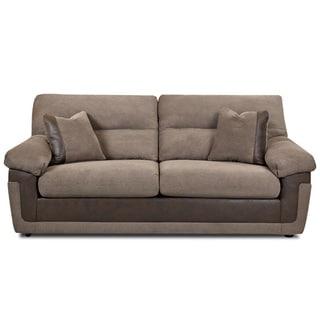 Made To Order Aldridge Two-tone Tobacco/ Mocha Upholstered Sofa