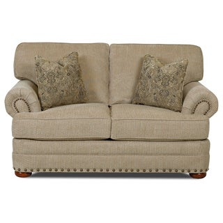 Clayton Collection Nail Head Trim Platinum Loveseat