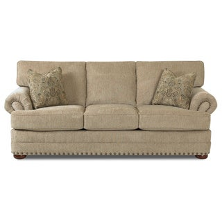Made to Order Clayton Collection Nail Head Trim Platinum Sofa