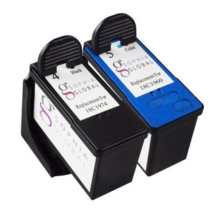 Sophia Global Remanufactured Ink Cartridge for Lexmark 4 and Lexmark 5 (Pack of 2)