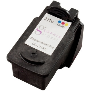 Sophia Global Remanufactured Color Ink Cartridge Replacement for Canon CL-211XL