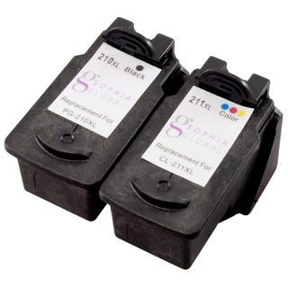 Sophia Global Remanufactured Ink Cartridge Replacement for Canon PG-210XL CL-211XL (Pack of 2)