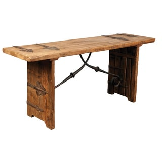Kylie Iron-accented Wooden Console Table