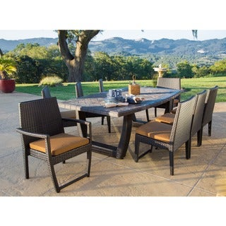 Batavia 9-piece Dining Set Slate Stone Top by Sirio