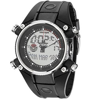Sector Men's Analog Digital Black Silicone Watch