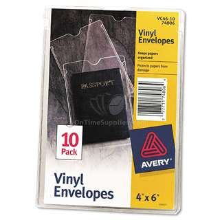 Avery Top-load Clear Vinyl Envelopes (Pack of 10)