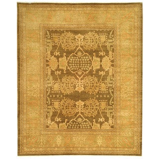 Safavieh Hand-knotted Peshawar Vegetable Dye Brown/ Olive Wool Rug (6' x 9')