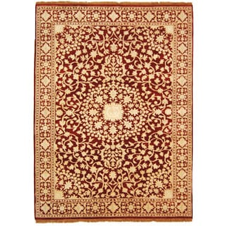 Safavieh Hand-knotted Ganges River Red/ Ivory Wool Rug (5' x 7')