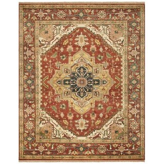 Safavieh Hand-knotted Serapi Rust/ Rust Wool Rug (8' x 10')